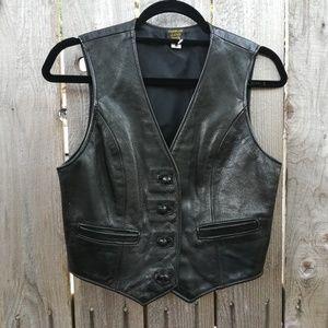 💙Vintage leather western/motorcycle vest